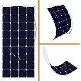 KINGSOLAR 120 Watt 18 Volt Monocrystalline Sunpower Semi Flexible Solar Panel Bendable folding Solar panel charger