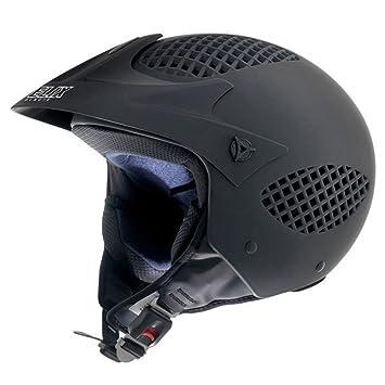 NZI 150246G093 Airzone Matt Black Casco de Moto, Negro Mate, Talla 54 (XS