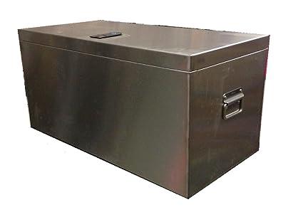 Baúl para herramientas de acero inoxidable, caja de ...