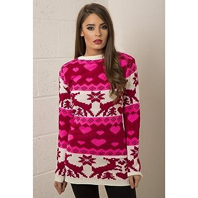 94d966b0a3e Miss Foxy Women s Knitted Christmas Jumper Dress at Amazon Women s ...