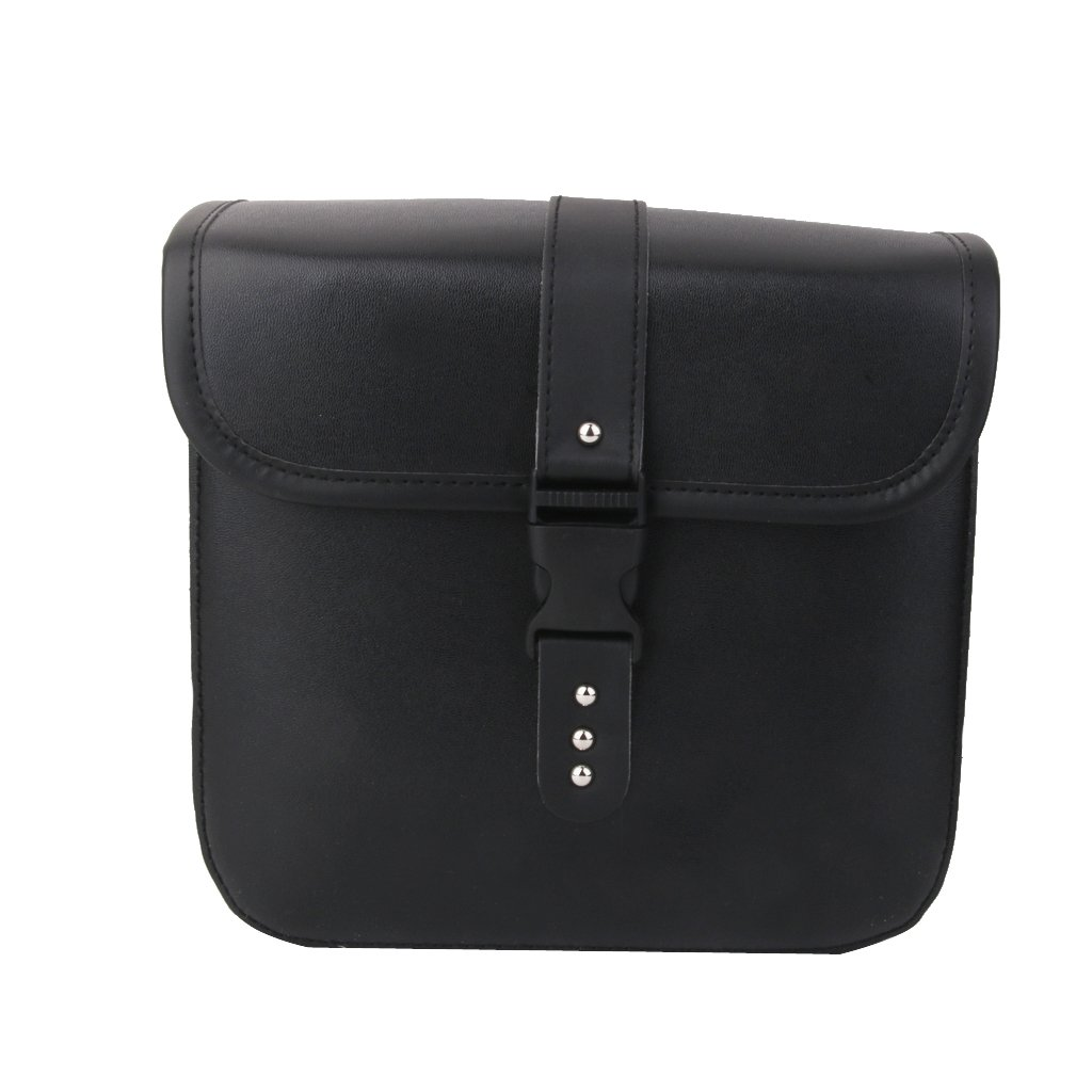 1 Pair Black PU Leather Motorcycle Side Saddlebags Saddle Bag Panniers