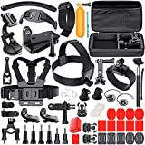 #10: Leknes Camera Accessory Kit for GoPro Hero 5/Hero 5 Session/4/3+/3/2/1 SJ4000 SJ5000 SJ6000 DBPOWER AKASO Xiaomi Yi APEMAN WiMiUS Lightdow Campark