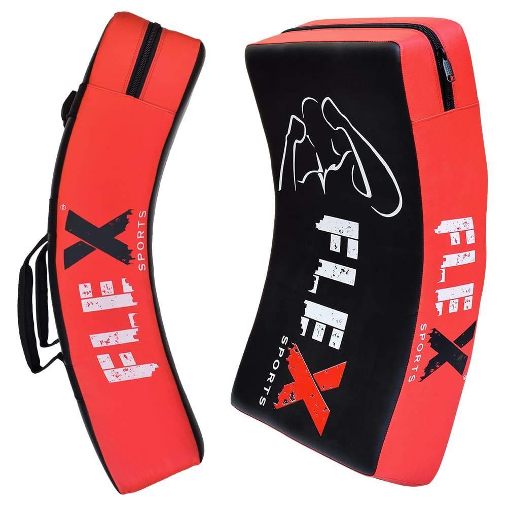 FLEX Boxing Kick Pad Curved Strike Shield Punching Bag Training MMA