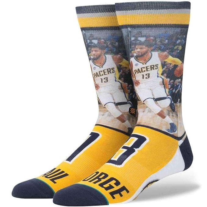 Stance Postura de la NBA futuro leyendas PG-13 Paul George calcetines en amarillo, Indiana Pacers equipo Amarillo amarillo: Amazon.es: Ropa y accesorios