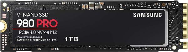 Samsung 980 PRO 1TB PCIe Gen 4.0 x4 (最大転送速度 7,000MB/秒) NVMe M.2 (2280) 内蔵 SSD MZ-V8P1T0B/EC 国内正規保証品