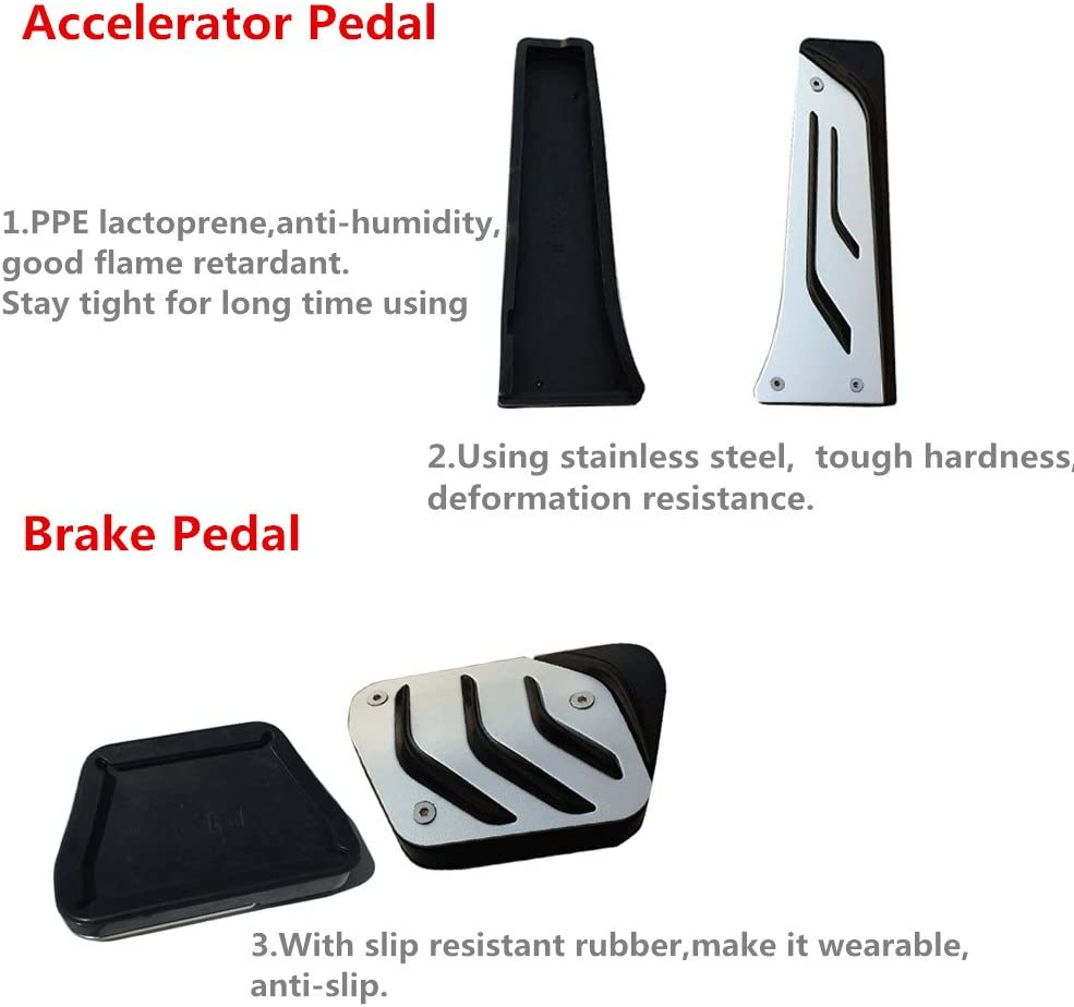 Stainless Steel Pedal Rest Pedal,for BMW 1 2 3 4 Series F20 F21 F22 F30 F31 F34 F32 GT 318 320i Car Clutch Pedal SXHNNYJ Car Brake Accelerator Pedal