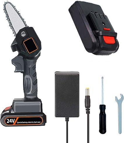 4 Zoll Akku Kettens/äge,Mini Elektrische Kettens/äge black