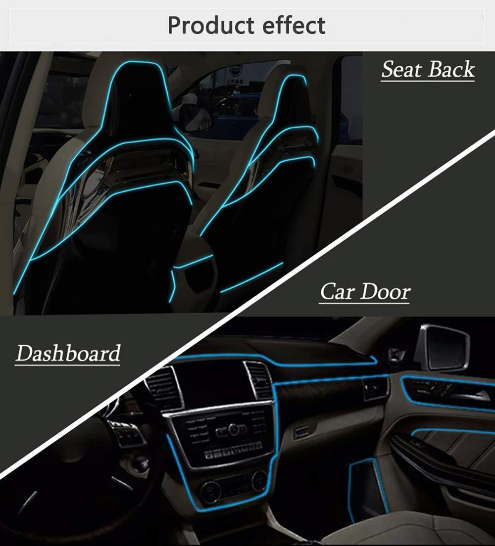 Hilos de neon para el coche y los asientos