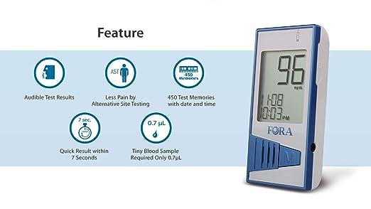 Amazon.com: FORA V12 Kit de pruebas de diabetes (1 FORA V12 ...
