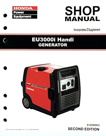 amazon com honda eu3000 eu3000i handi generator service repair rh amazon com honda eu3000is generator repair manual pdf honda eu3000is generator service manual
