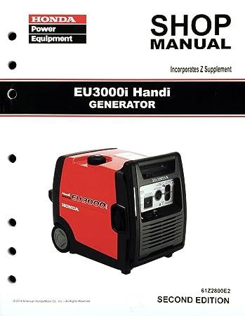 amazon com honda eu3000 eu3000i handi generator service repair rh amazon com honda eu3000i handi service manual Honda Generators