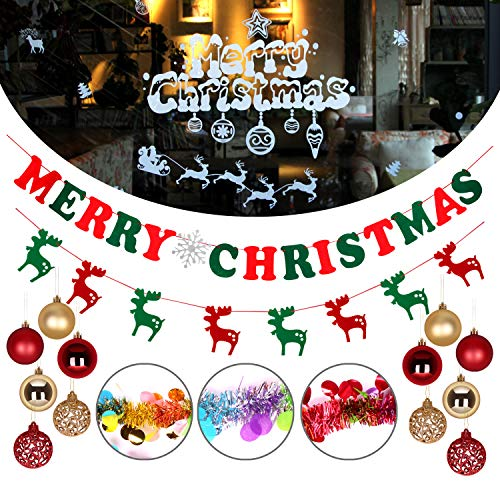 Atopsell 19 pcs Christmas Decoration Set Christmas Party Decoration for Outdoor Indoor Xmas Party Decoration of DIY Party Favor Supplies and New Year's Eve Decorations Art Crafts