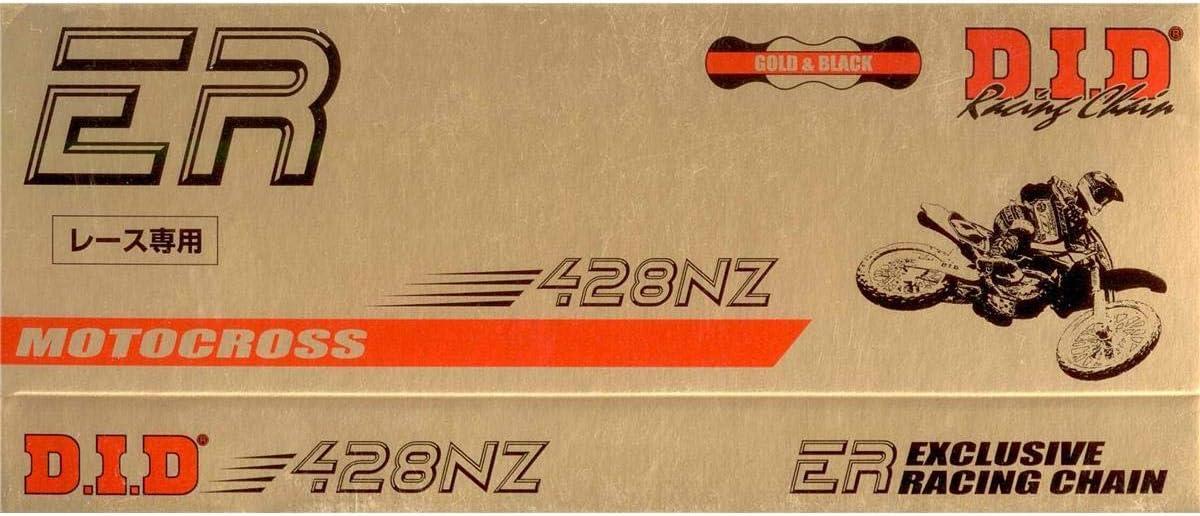 DID Kette 428 NZ doppelt verst/ärkt gold//schwarz 130 Glieder offen Clipschloss