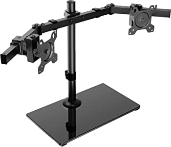 Huanuo Standing Height Adjustable Dual Arm Monitor Mount