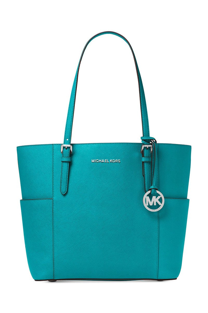 MICHAEL Michael Kors Jet Set Large Tote (Tile Blue)