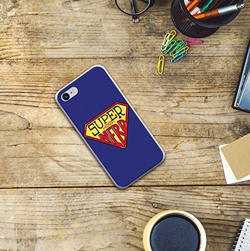 WoowCase Hülle Case für [ iPhone 7 ] Handy Cover Schutzhülle Super Nerd