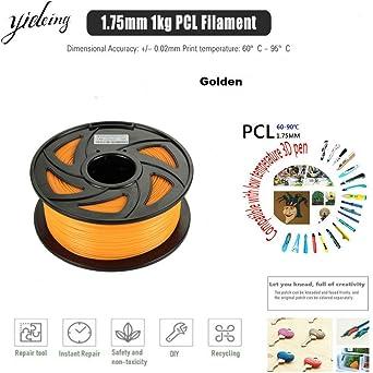 Lápiz de dibujo 3D de 1,75 mm, 1 kg, 350 m, filamento de PCL ...