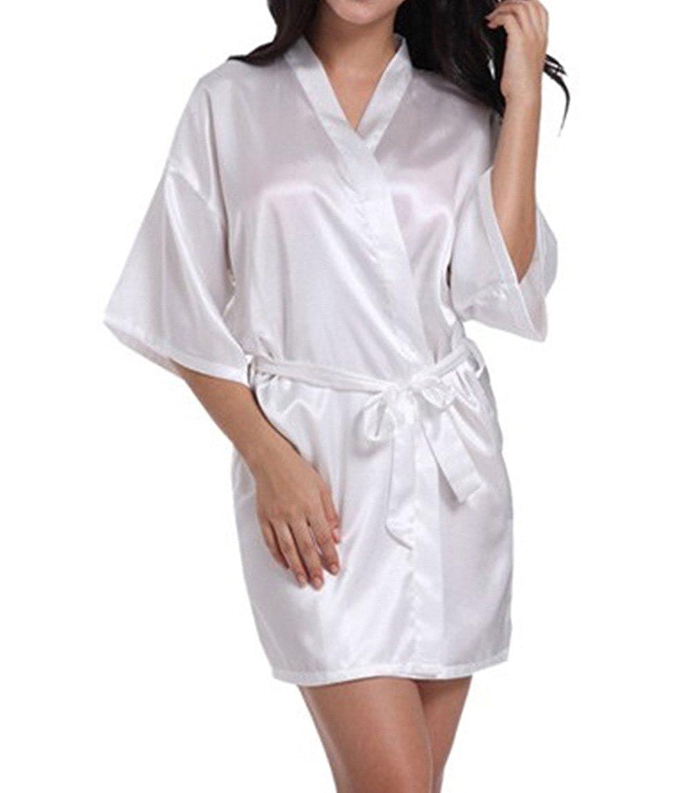WPFING Blanco Camisón de la Boda para el Camisón Nupcial de la Novia del Partido Nupcial: Amazon.es: Ropa y accesorios