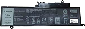 SUNNEAR GK5KY 43Wh Laptop Battery Replacement for Dell Inspiron 11 3147 3148 3152 3157 Inspiron 13 7347 7348 7352 7353 7359 Inspiron 15 7558 Series 04K8YH 092NCT 92NCT 4K8YH P20T 11.1V 3800mAh