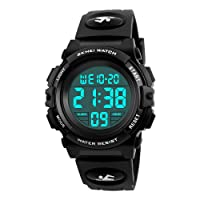 Kids Digital Watch, Farsler Digital Sports 50M Waterproof Led Watches Alarm Clock Luminous Wrist Watch for Boys Girls Childrens