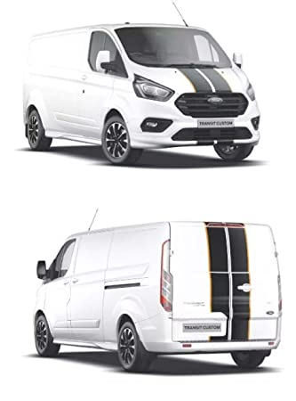 TSG Ford Transit Custom M Sport Stripes - Kit de capó y portón Trasero de Cualquier Color: Amazon.es: Coche y moto