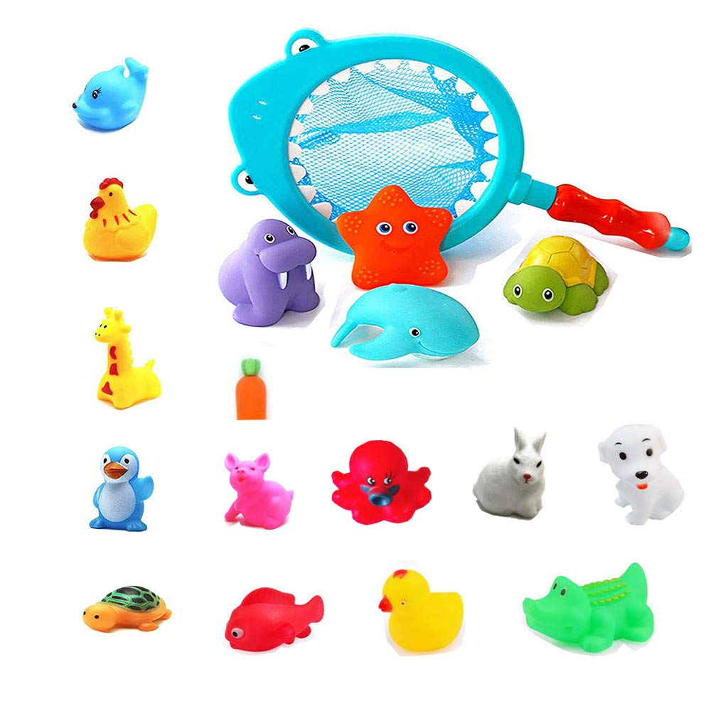Animal Child Baby Kids Funny Bath Toys Rubber Float Squeeze Sound Wash Bath Swim
