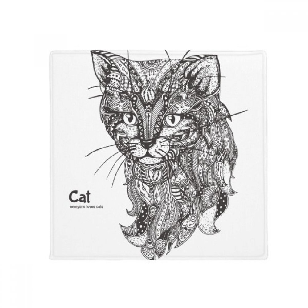 DIYthinker Cat Human Paint Quiet Baby Anti-Slip Floor Pet Mat Square Home Kitchen Door 80Cm Gift