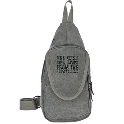 The Best View Comes From The Hardest Climb Fashion Men's Bosom Bag Cross Body New Style Men Canvas Chest Bags
