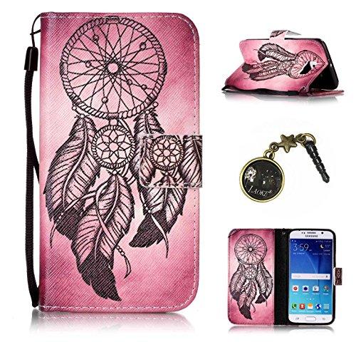 Para Smartphone Samsung Galaxy S6Funda Flip Cover Funda Piel [Tarjetero] funda piel cartera Executive Diseño + Polvo Conector beige 7 5