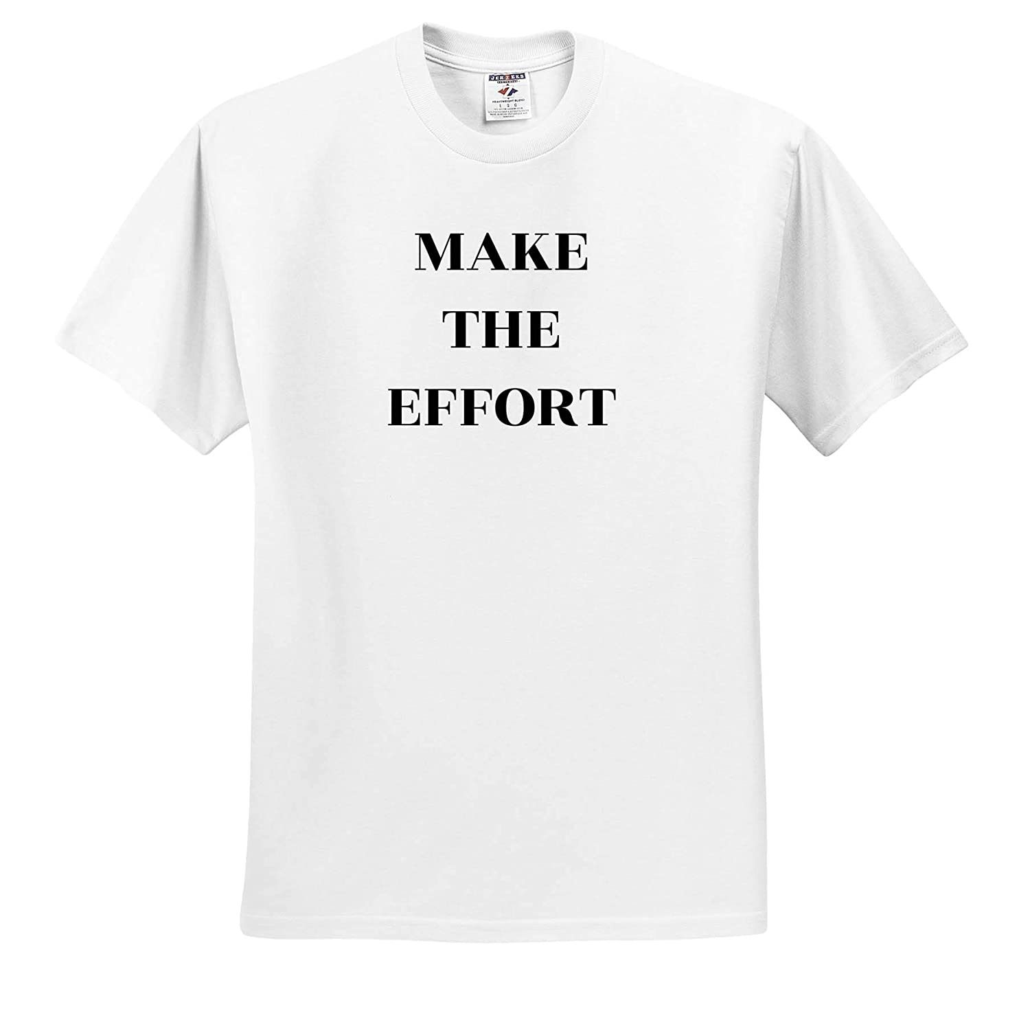ts/_319367 Quote Make The Effort 3dRose Carrie Quote Image Adult T-Shirt XL