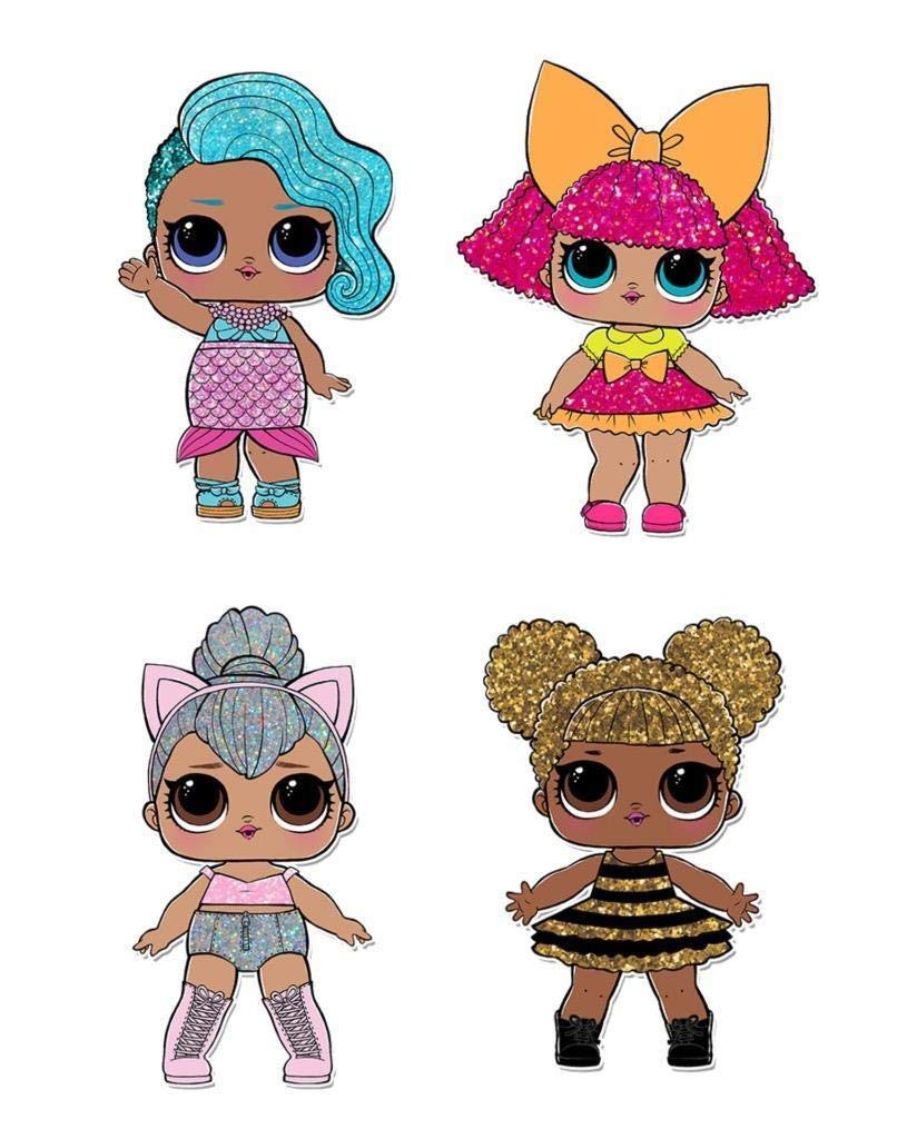 4x lol doll printed self adhesive vinyl sticker decals lol43 amazon co uk kitchen home