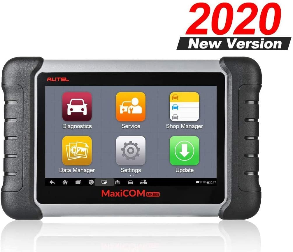 Autel MaxiCOM MK808 OBD2 Reader Car Diagnostic Scan Tool with All Systems Diagnosis and Service Functions Including Oil Reset EPB BMS SAS DPF TPMS Relearn (MD802+MaxiCheck Pro)