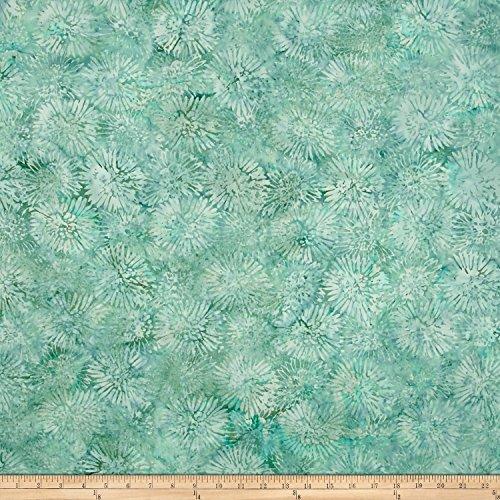 Island Batik Olivera Zinnia Light Lagoon Fabric By The Yard (Fabric Zinnia)