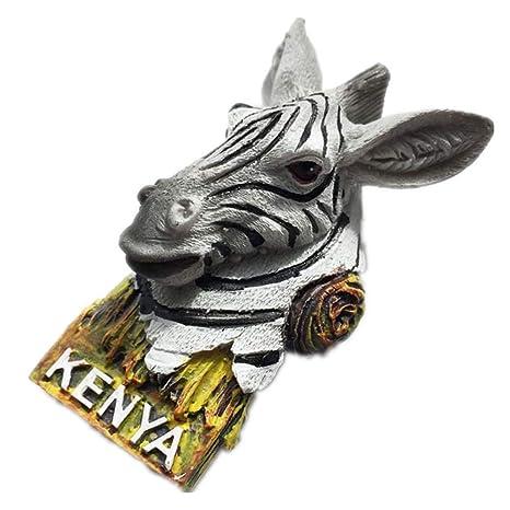 Kenia África resina 3d fuerte imán de nevera recuerdo turista ...