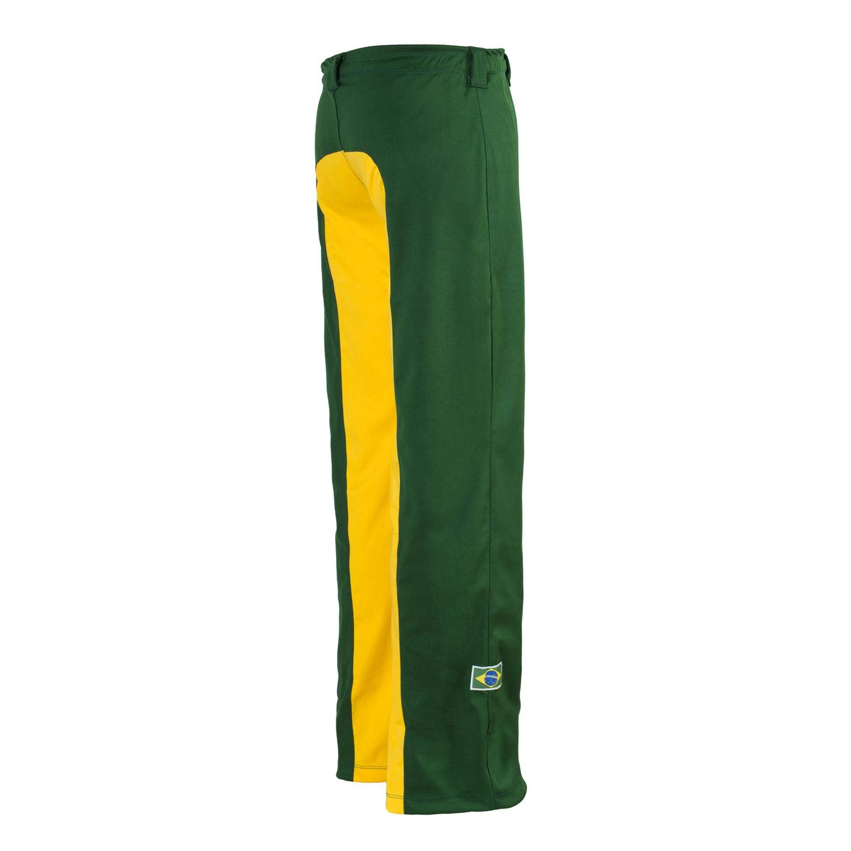 M Unisex Verde amarillo Brasil Capoeira Artes Marciales Abada El/ástico Pantalones 5 Tallas
