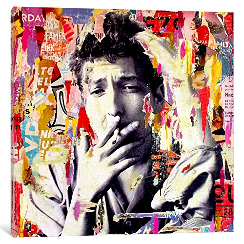 iCanvasART Bob Dylan Gallery Wrapped Canvas Art Print by Michiel Folkers, 37'' x 0.75'' x 37'' by iCanvasART
