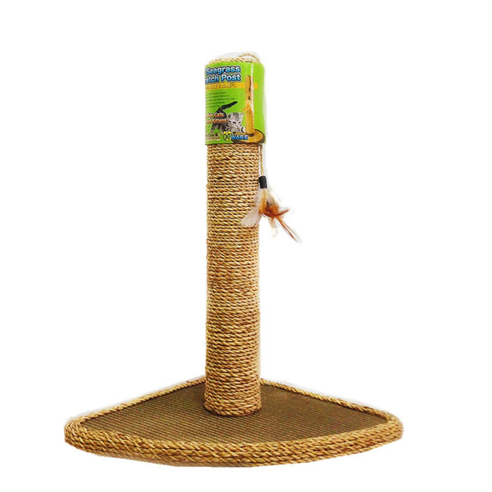 Cat Climbing Cat Toy All Natural Straw Mat Seaweed Rope Feather Corner Design Activity Pole Center Climbing Fun Claw Training