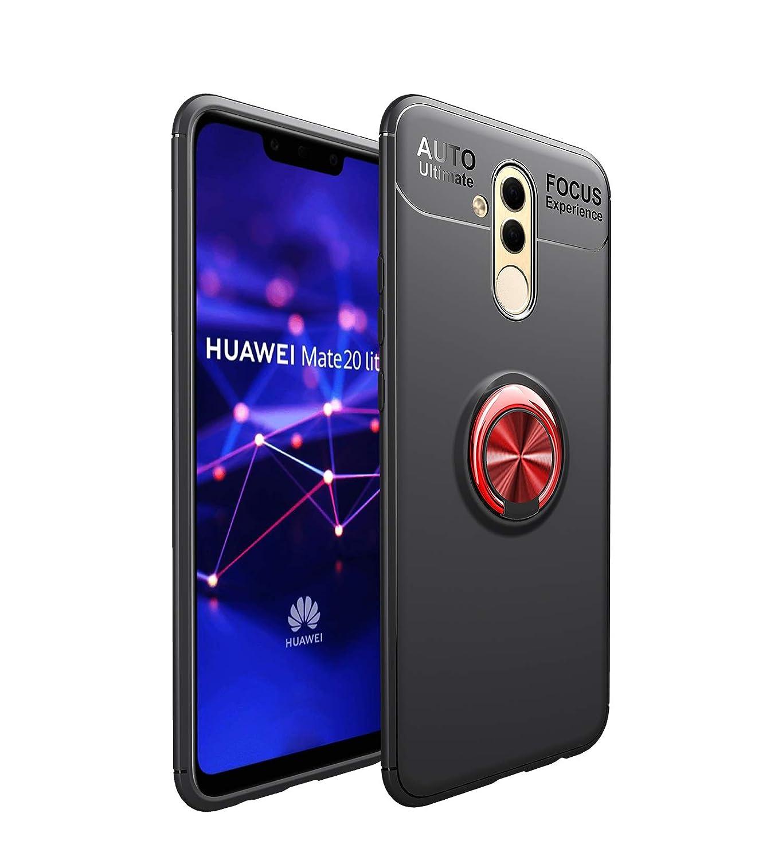 Shinyzone Huawei Mate 20 Pro Hü lle, Schwarz mit Ring 360 Grad Drehbarer Standfunktion, Ultra Dü nn Weich TPU Stoß fest Schutzhü lle Kompatibel mit Magnetischer Autohalterung