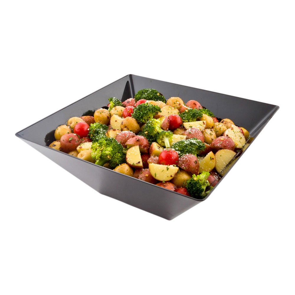 Modern Catering Serving Bowl Large Black 11x11x4 inches 25 count box by Restaurantware