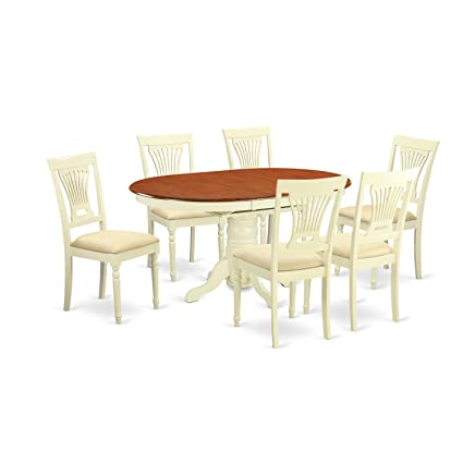 7 piece dinette set liberty east west furniture avpl7whic piece dinette table and chairs set amazoncom