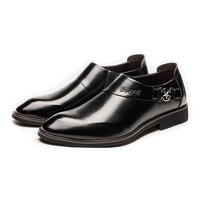 Chaussures en Cuir pour Hommes Formelles Business Shoes Lisse en Cuir PU Splice Slip-on Doublure Respirante Oxfords Chaussures de Sport en Cuir pour Hommes (Color : Black, Size : 39 EU)