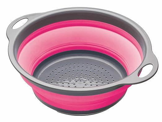 152 opinioni per Kitchen Craft Colourworks, Scolapasta pieghevole, 24 cm, colore: Rosa