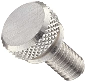 Thread Size #4-40 Narrow 18-8 Stainless Steel Knurled-Head Thumb Screw