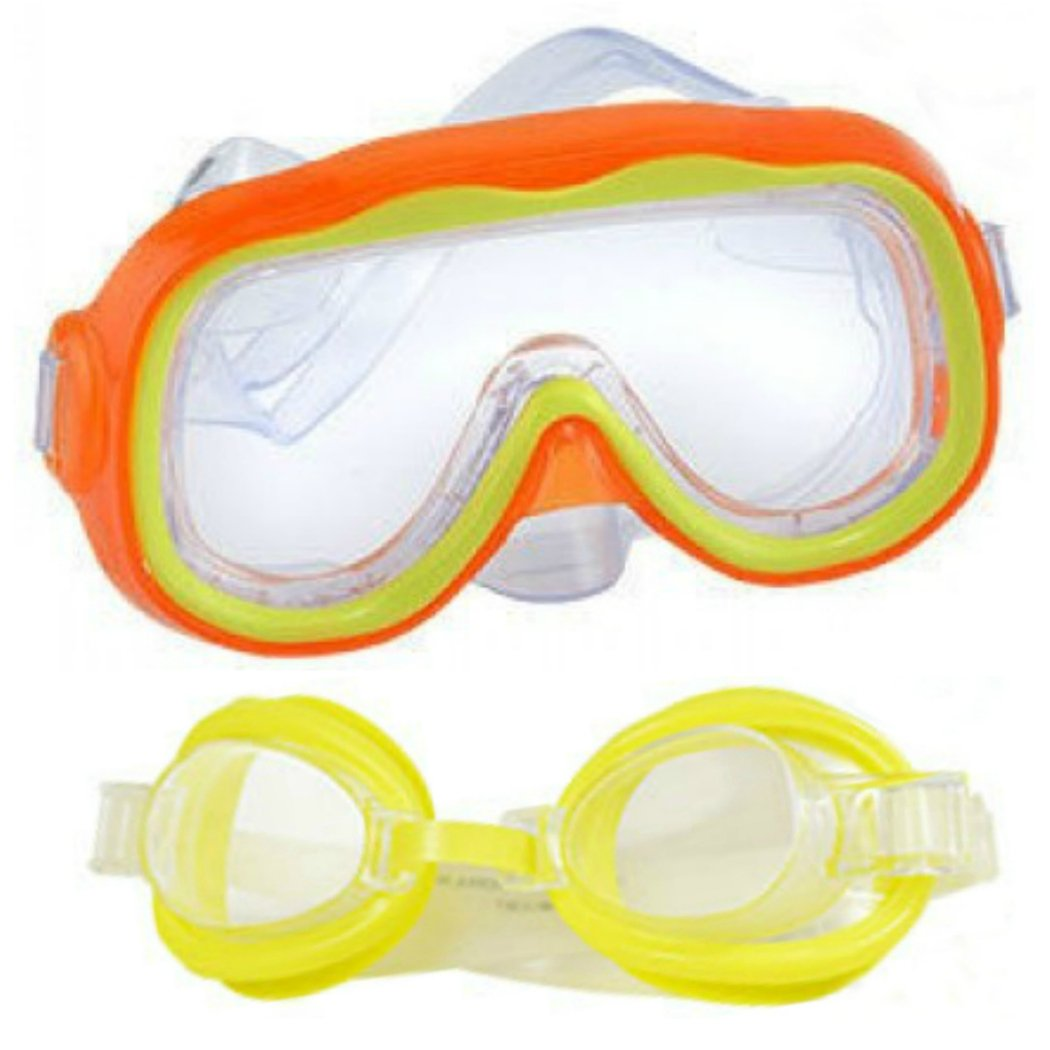 Kids Swim Goggles andマスク2 - Pack for子Swimming and Diving   B07DRN7Y34
