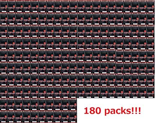 [180Packs /Total 14400] KMC Standard Sleeves (80 Sleeves, Hyper Mat Black)