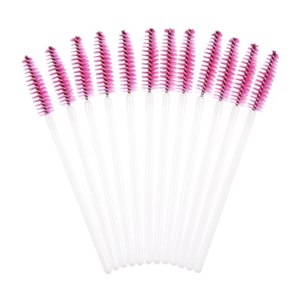 Susenstone 50pcs Disposble Eyelash Brush Mascara Wands Makeup Cosmetic Tool Hot (Hot Pink) Susenstone_1336