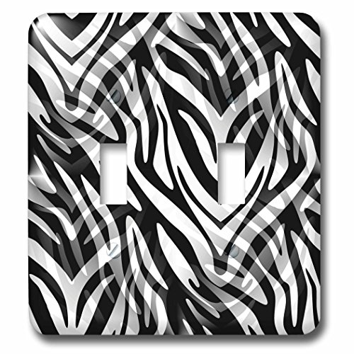 Cassie Peters Animal Print Abstract - Lost in the Wilds, Abstract Zebra Print - Light Switch Covers - double toggle switch (lsp_240286_2) (Print Abstract Peter)