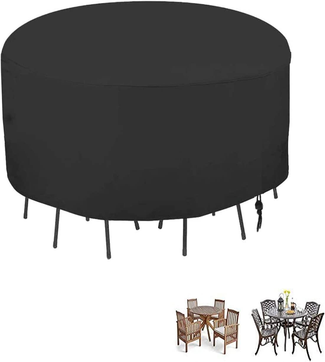 POMER Patio Table & Chair Set Cover – 90 x 43 Inch Premium Outdoor Sofa Furniture Cover with Durable and Water Resistant Fabric