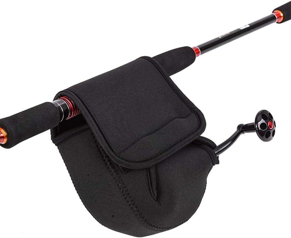 Angelrolle Tasche Schutzhülle Spinning Reel Beutel Etui Roll Schwarz I3M9