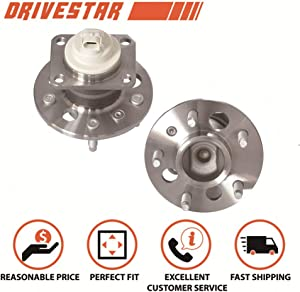 DRIVESTAR 512150 Rear Wheel Hub & Bearing Assembly for Buick Century LaCrosse Regal Terraza/Chevrolet Impala Monte Carlo Uplander Venture/Pontiac Aztek Grand Prix Montana/Saturn Relay w/ABS(Pair)